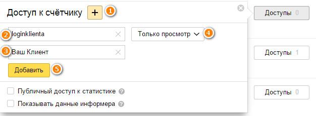 Как предоставить доступ к Яндекс.Метрики?